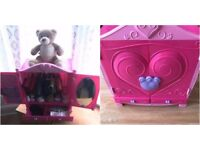 USED BUILD A BEAR TEDDY WITH WARDROBE + CLOTHES BUNDLE 23 ITEMS FOR £30