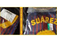 NEW Barcelona Football Shirt Top New 2017-18 Season Printed 9 Suarez Never Opened.