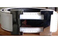 HERMES BELT -white/Black reversible size- 110cm BRAND NEW