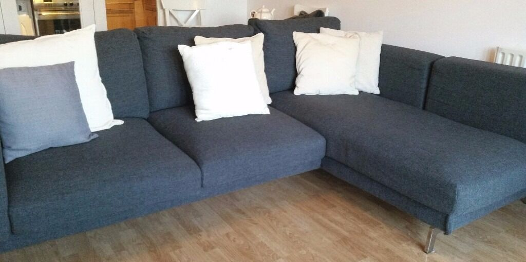 Ikea Nockeby Corner Sofa Dark Grey In Richmond