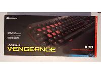 Corsair Vengeance K70, Mechanical Keyboard, Cherry MX Blue