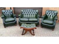 Chesterfield style, Thomas Lloyd 4 piece suite. EXCELLENT CONDITION! BARGAIN!
