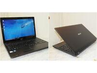"Acer Aspire 15.6"" Windows 10 HDMI laptop with new keyboard. 4GB DDR3 RAM. 320GB hard drive."