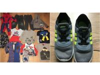 BOYS 11 X 3-4 YEARS JOBLOT + ADIDAS SIZE 9 TRARINERS £10 TAKE ALL