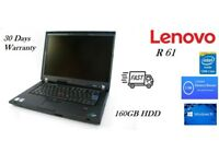 Cheap Branded Lenovo Laptop Win 10 ThinkPad R61 Intel Core2Duo @ 1.8GHz 2GB RAM 160GB HDD
