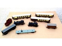 A collection of antique model trains ( 1960's)