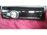 JVC KD-R421 FACE OFF CD & MP3 PLAYER FRONT AUX & USB INPUT 50Wx4 IN BLACK