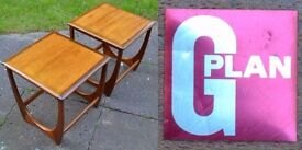 2 x G Plan Vintage Mid Century Teak Side Tables Danish Style