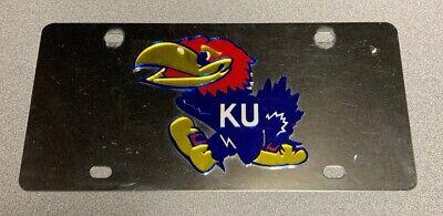 Kansas University KU Jayhawk KS Acrylic License Plate USA Car Truck Fan Souvenir