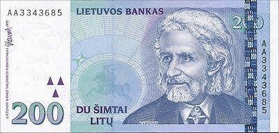 Litauen / Lithuania 200 Litu 1997 Pick 63 unc