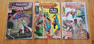 Lot of 3 The Amazing Spider-Man #44,89,99  FREE SHIPPING-LIZARD--PRISON--DOC (The Amazing Spider Man 3 Doc Ock)