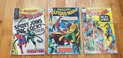 Lot of 3 The Amazing Spider-Man #56,83,89  FREE SHIPPING--DOC (The Amazing Spider Man 3 Doc Ock)