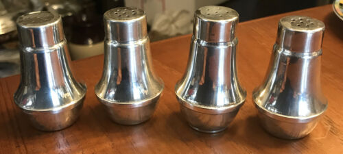 2 Pairs Of Couchin Creations Sterling Silver Weighted Glass Lined Salt Peppers - $15.99