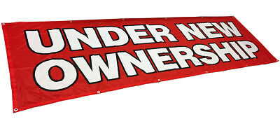 Under New Ownership Banner Sign Vinyl Alternative 3x10 Ft - Fabric Rb