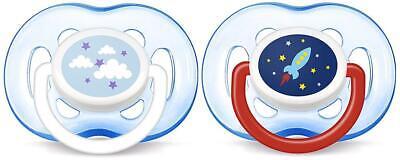AVENT Freeflow Orthodontic Pacifier, Blue Rocket & Cloud, 18m+