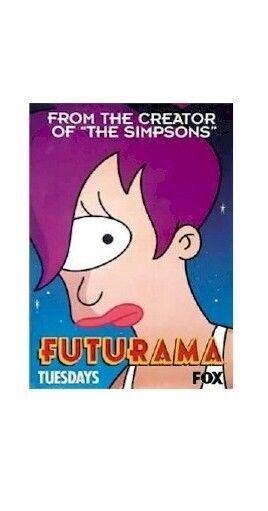 FUTURAMA POSTER ~ LEELA 27x40 Cartoon Matt Groenig FOX