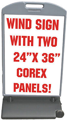 Corex Panels Sidewalk 24x36 Wind Sign Ii