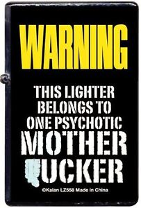 Funny-Adult-Metal-Lighter-refillable-NEW-This-lighter-belongs-to