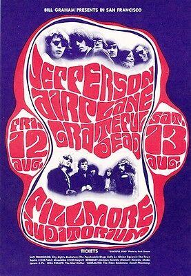 MINT Grateful Dead Jefferson Airplane 1966 BG 23 Fillmore Card