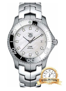 TAG HEUER MEN'S WJ1114BA0575 LINK MOTHER-OF-PEARL DIAL WATCH W/B