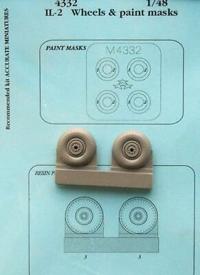 AIRES HOBBY 1/48 IL2 WHEELS PAINT MASKS FOR ATE D 4332