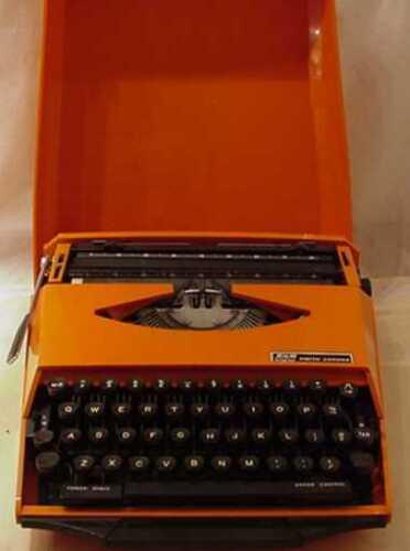 VINTAGE MID CENTURY MODERN BY GHIA SUPER G SMITH-CORONA PORTABLE TYPEWRITER