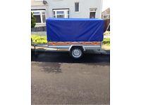 CAR TRAILER Box BRAND TEMA with Cover and Jockey Wheel 750kg