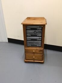 Pine stereo cabinet in lovely condition made by Corndell