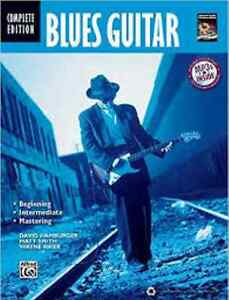 music books, CDs + video - learn to play the Blues - for guitar