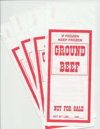 GROUND BEEF FREEZER CHUB BAGS 1LB 200 COUNT FREE SHIPPING