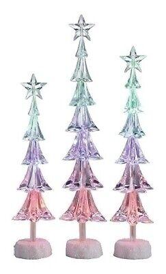 Roman 3 Icy Crystal LED Slim Christmas Tree Star Christmas Table Figures 16