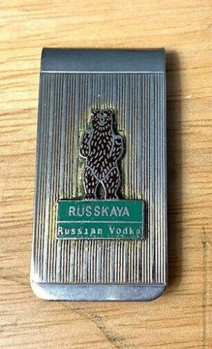 X Old Original Rare Russkaya Russian Vodka Money Clip