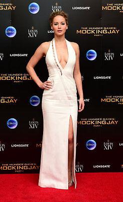 Wow in a halterneck dress like Jennifer Lawrence. Credit: Ian West/PA Images