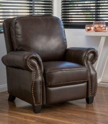 Dark Brown Manual Club Armchair Recliner Arm Chair Armchairs Recliners Chairs