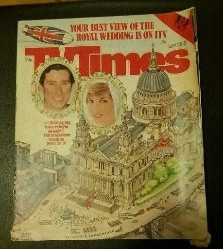 TV TIMES JULY 25-31 1981 Royal Wedding Prince Charles and Diana *Collectable*
