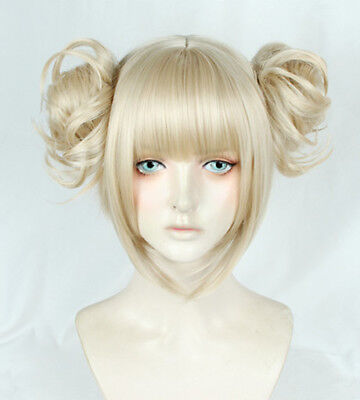 My Hero Boku no Academia Himiko Toga Gold Perücke Wig Cosplay Kostüme Anime New