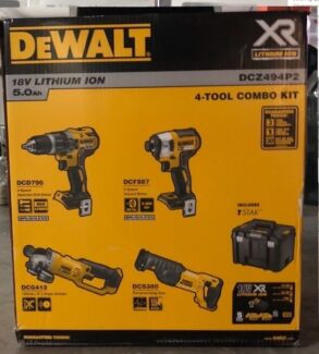 BRAND NEW 4 PIECE DEWALT BRUSHLESS COMBO KIT  DCZ494P2
