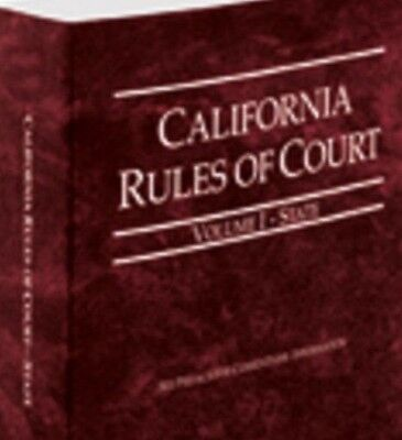California Rules Of Court   State  2016  Vol  I  Paperback  Thomson Reuters