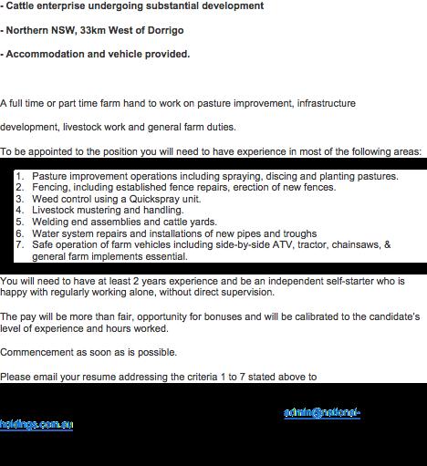 Farm Manager - Mid North Coast, NSW | Farm Management | Gumtree ...