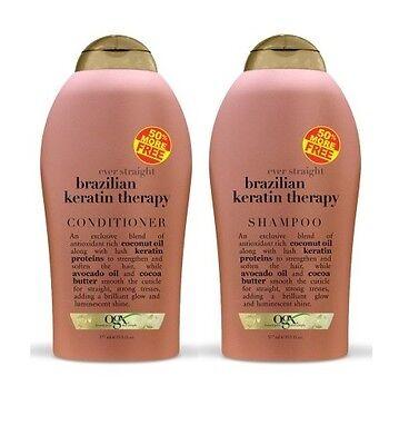 Organix Brazilian Keratin Therapy Shampoo & Conditioner 19.5 oz each SALE!!!