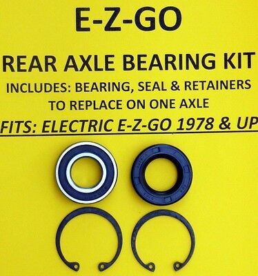 Ez Go Golf Cart Part Rear Axle Bearing Seal Kit 1978-up Electric
