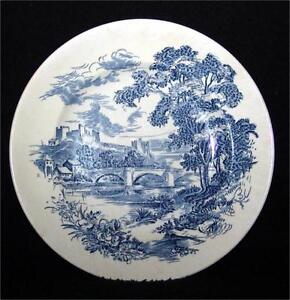"""Set of 4 Wedgwood """"Countryside"""" Blue Dinner Plates"""