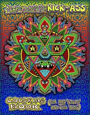 Cool Coloring Books For Adults (Chris Dyer's Kick-ass Coloring Book : For Rad Adults and Cool Kids,)