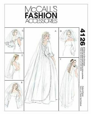 McCalls Fashion Accessories 4126 Sewing Pattern Wedding Veils UNCUT -
