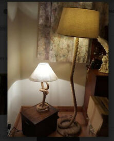 ROPE Standard Lamp & matching Side Lamp