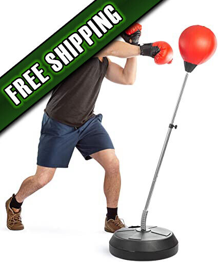 Punching Bag Reflex Boxing Bag With Stand, Height Adjustable - $112.45