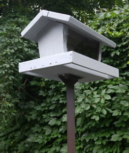Cedar Hopper Bird Feeder on Squirrel-Proof Pole