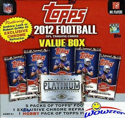 2012 Topps Football MEGA Box+Platinum HOBBY+CHROME REFRACTOR Luck/Griffin III - Chrome Football Cards Hobby Box