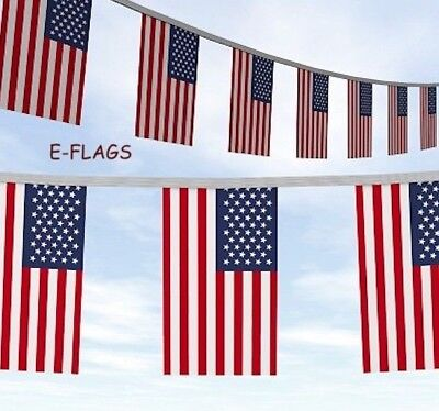 20 METRES USA AMERICAN STARS & STRIPES 4TH JULY INDEPENDENCE DAY FLAG BUNTING