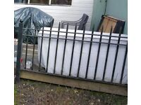 Black metal railings / balustrade